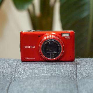 フジフイルム(富士フイルム)のFUJIFILM デジタルカメラ FinePix T400 光学10倍 レッド(コンパクトデジタルカメラ)