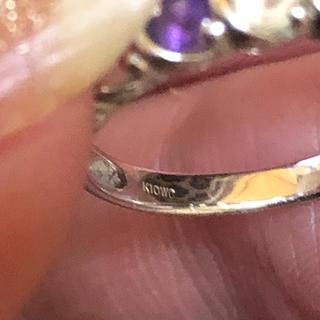 10Kホワイトゴールド(リング(指輪))
