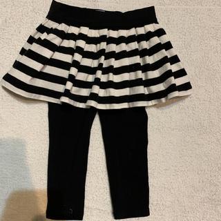 ベビーギャップ(babyGAP)のkids 女の子 ボーダー スカッツ 95㎝ Baby Gap(スカート)