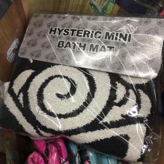ヒステリックミニ(HYSTERIC MINI)の②未開封 ヒスミニ   バスマット ブラック(バスマット)