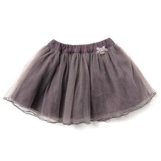 プティマイン(petit main)のpetitmain リボンつきチュールスカート(スカート)
