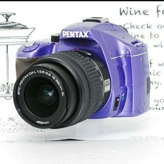 ペンタックス(PENTAX)の手のひらサイズ♪スマホ転送OK!ペンタックスk-xパープル(デジタル一眼)
