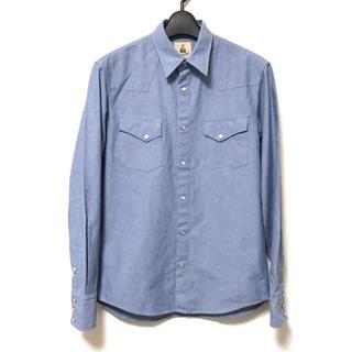 ギローバー(GUY ROVER)の定2.5万美品 ギ・ローバー  シャンブレー長袖ウエスタンシャツS(シャツ)
