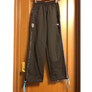 ディアドラ(DIADORA)のディアドラ ロングパンツ M 黒と水色(ウェア)