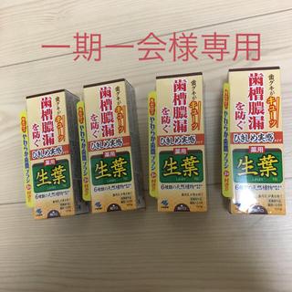生葉 ひきしめ実感タイプ 100g×4個 新品未開封 薬用生葉 しょうよう(歯磨き粉)