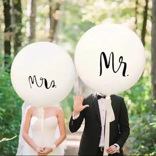 結婚式 風船 撮影小物 ウエディング バルーン mr&mrs 2種類セット(その他)