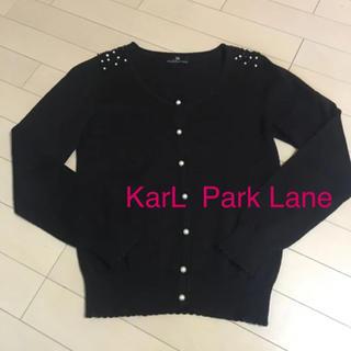 カールパークレーン(KarL Park Lane)の値下げ‼️美品✨ウール混カーディガン 長袖 黒 M(カーディガン)
