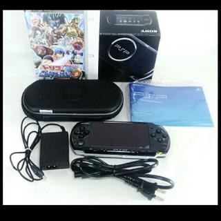 ソニー(SONY)のPSP-3000PB ピアノ ブラック 4GBのメモリー付き 動作確認済み(携帯用ゲーム本体)