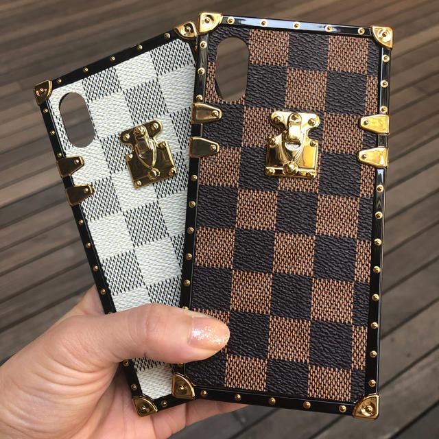iphone8 ケース メンズ おしゃれ | iPhone X ケース LV チェック モノグラム ストラップ付きの通販 by Gucci-Gang's shop|ラクマ