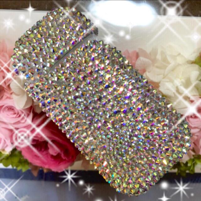 おしゃれ iphone8plus カバー バンパー / キラキラガラスビジュー 全面デコ アイコスケース IQORの通販 by デコショップ  雅|ラクマ