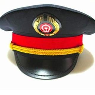 鉄道員 帽子 コスチューム 小物 54cm-61cm キャップ(小道具)
