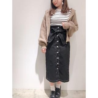 ナチュラルクチュール(natural couture)の配色ステッチタイトスカート natural couture ナチュラルクチュール(ひざ丈スカート)