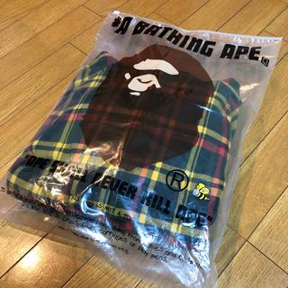 アベイシングエイプ(A BATHING APE)のa  bathingape ape エイプ ISETAN パーカー チェック (パーカー)