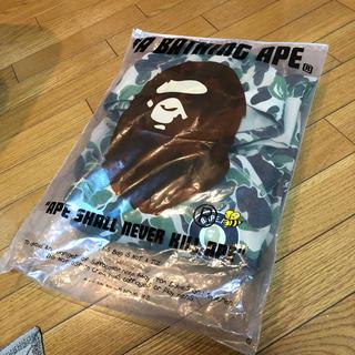 アベイシングエイプ(A BATHING APE)のa bathingape ape パーカー カモ柄 イエロー(パーカー)