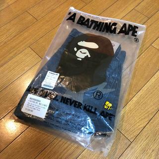 アベイシングエイプ(A BATHING APE)のa  bathingape ape エイプ ハーフパンツ ブラック(ショートパンツ)