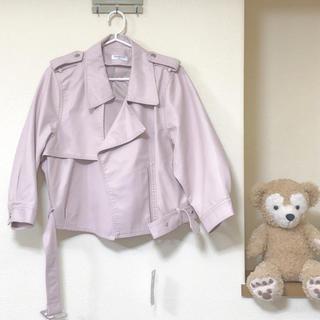 ジーユー(GU)の新品 オーバーサイズ ライダースジャケット(ライダースジャケット)