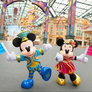 Disney - ディズニー35周年 ポージープラッシー ・ ミッキー&ミニー ぬいぐるみ セット