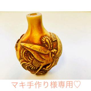 マキ手作り様♡専用◆鹿角*牙*彫刻*龍×朱雀*アンティーク(彫刻/オブジェ)