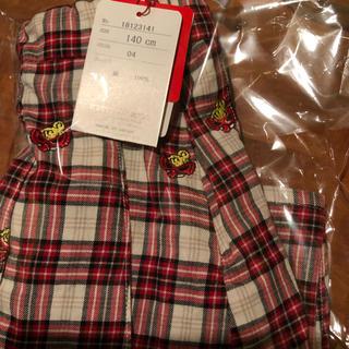 ヒステリックミニ(HYSTERIC MINI)のヒスミニ HYSTERIC MINI ヒスミニ 刺繍スカート 140(スカート)