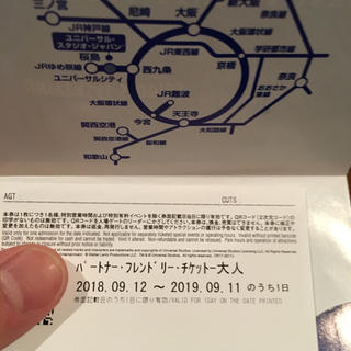 ユニバーサルスタジオジャパン(USJ)のUSJ パークチケット大人 未使用 9月まで!(遊園地/テーマパーク)