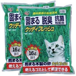 アイリスオーヤマ 猫砂 ウッディフレッシュ 16L×2袋 (まとめ買い)(猫)