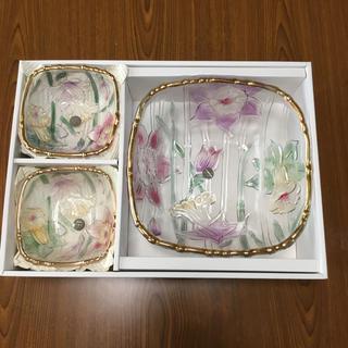曽我ガラス   ガラスボールセット  大1枚 小5枚(食器)
