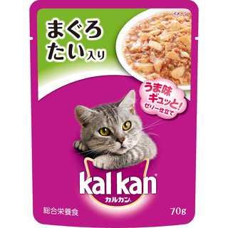 カルカン パウチ 成猫用 1歳から まぐろ たい入り 70g×16袋入り(猫)