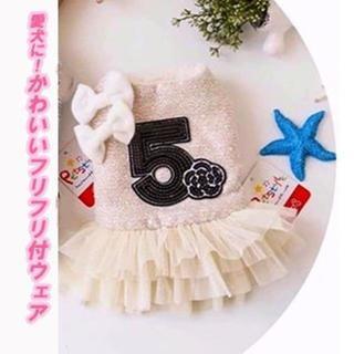 特別SALE!スカートかわいいフリル付 あったか♥犬服 Lサイズ(犬)