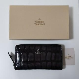 ヴィヴィアンウエストウッド(Vivienne Westwood)のVivienne Westwood 長財布 ラウンドファスナー オーブ エナメル(財布)