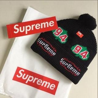 大人気!! Supreme ニット帽 ブラック(その他)