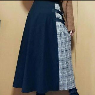 しまむら - チェック切り替えプリーツスカート