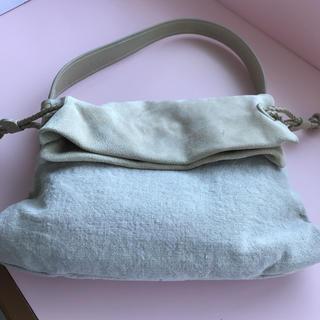 ゲンテン(genten)のゲンテン  麻とスウェードのバッグ(ハンドバッグ)