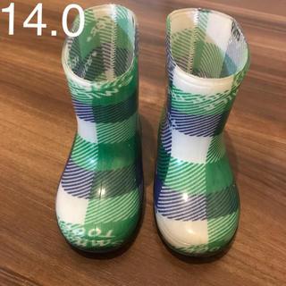 used♡長靴14.0cm 記名あり(長靴/レインシューズ)