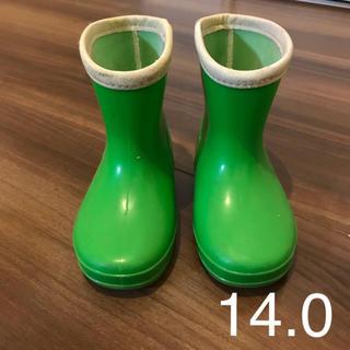 used♡長靴 14.0cm グリーン(長靴/レインシューズ)