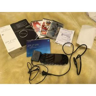 ソニー(SONY)のPSP-3000動作品 ソフト5本付き 付属品完備(携帯用ゲーム本体)