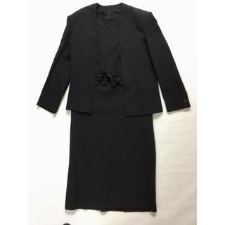 喪服 ブラックフォーマル  アンサンブル ゆったりめ 9号(礼服/喪服)