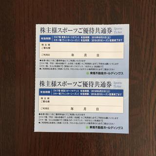 東急不動産 株主様スポーツご優待共通券(スキー場)