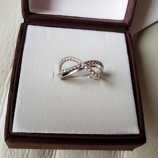 ヨンドシー(4℃)のCUKE 指輪 pt/sv キューピックジルコニア指輪(リング(指輪))