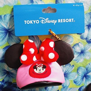 Disney - ディズニー★イヤーハット★キーチェーン★ミニー