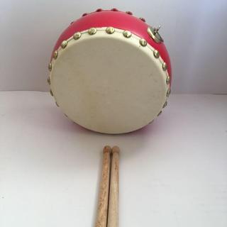 コンパクト太鼓 バチ付き 未使用品 和太鼓(和太鼓)
