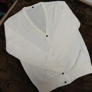 MUJI (無印良品) - 新品未使用 無印良品 ホワイト 薄手カーディガン