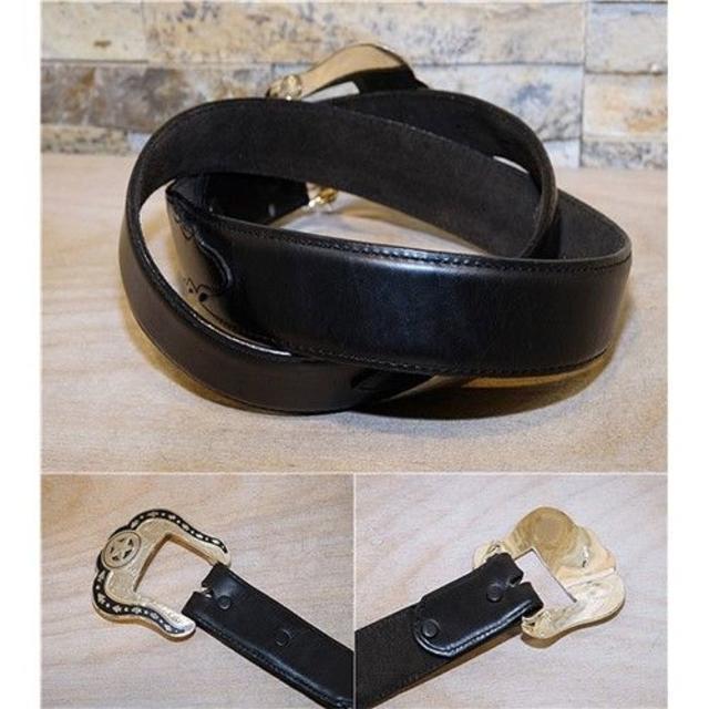 Tony Lama(トニーラマ)のUSA製 美品 トニーラマ レザーベルト 黒 36in 90cm~102cm メンズのファッション小物(ベルト)の商品写真