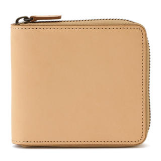 無印良品イタリア産ラウンドファスナー二つ折り財布