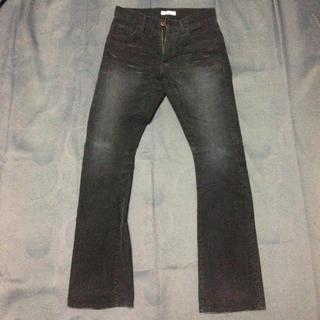 ガルニ(GARNI)のGARNI ガルニ コーデュロイパンツ ブーツカット 黒 ブラック S(カジュアルパンツ)