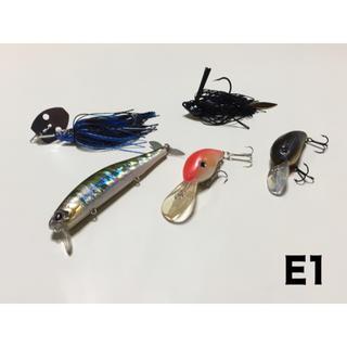 エバーグリーン(EVERGREEN)のエバーグリーン ウェイクマジック、メーカー不明 チャター、ジグ、クランク×2(ルアー用品)