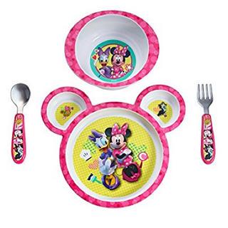 ディズニー(Disney)の再値下げ! 新品 ミニーちゃん プレート ミールセット ディズニー お皿 離乳食(離乳食器セット)