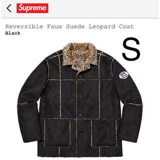 Supreme - Reversible Faux Suede Leopard Coat