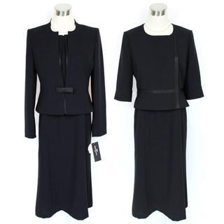 新品 6.3万 7号ソニアバレンシア ブラックフォーマル アンサンブル スーツ(礼服/喪服)