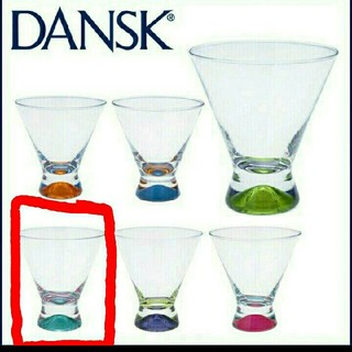ダンスク(DANSK)のDANSK ダンスク グラス グリーン 緑 箱 コップ 取扱説明書 新品 未使用(グラス/カップ)