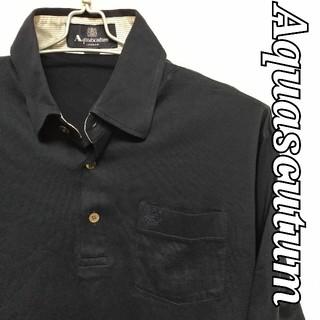 アクアスキュータム(AQUA SCUTUM)のUSED品 Aquascutum ポロシャツ Mサイズ(ポロシャツ)